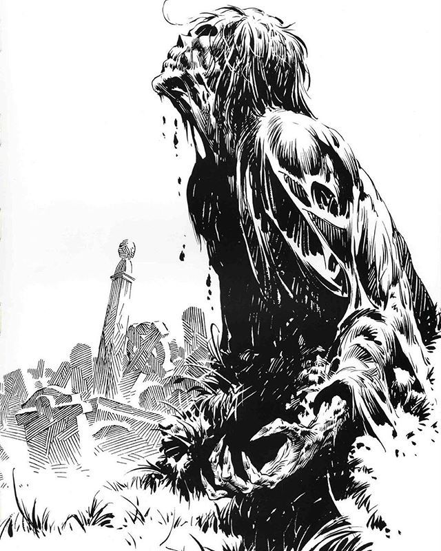 Tomorrow night's episode has a tribute walker inspired by the genius of Bernie Wrightson! Stay tuned! #twd @amcthewalkingdead @thewalkingdeadamc #berniewrightson