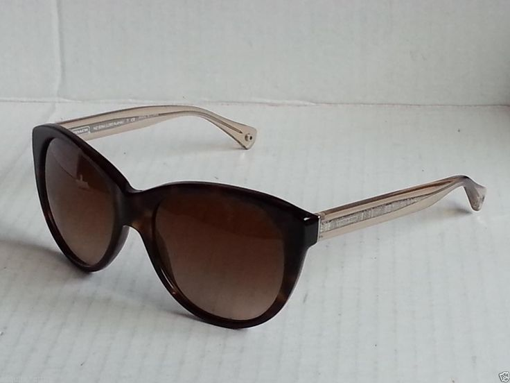 1897df75858 COACH women sunglasses HC8064 AUDREY cat eye tortoise brow (no tags ...