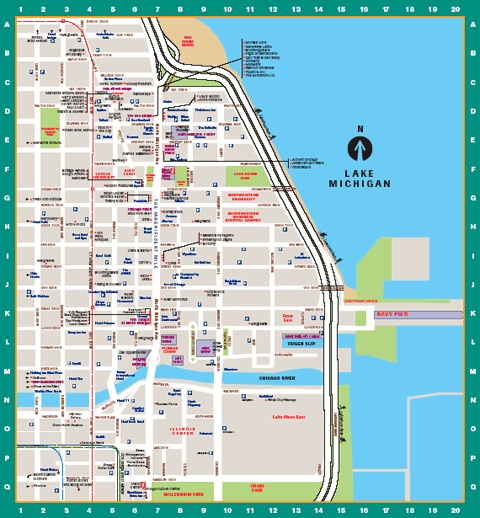 Chicago Loop Hotels Map