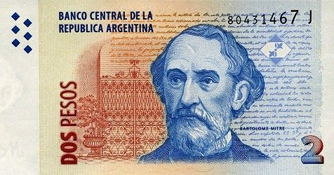 Matawang Argentina ( 2 Pesos ).                    Nama Mata Wang:    Argentine peso.      Kod ISO 4217:    ARS.      Simbol:    $      Na...