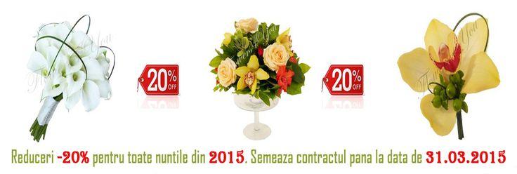 BUCHETE DE MIREASA, LUMANARI DE NUNTA, BUCHETE FLORI, - Flowers4You
