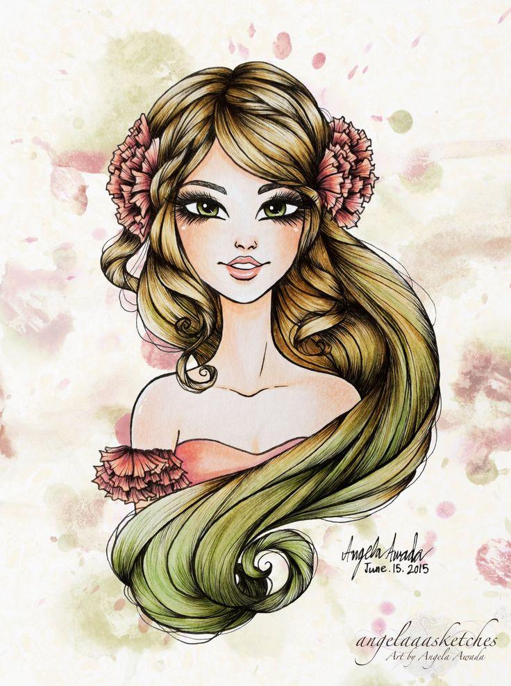 Blooming+by+angelaaasketches.deviantart.com+on+@DeviantArt