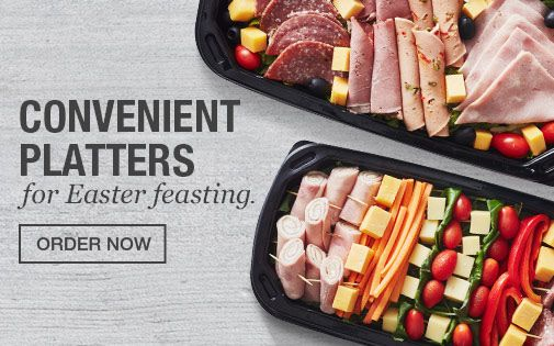 Convenient Platters For Easter Feasting
