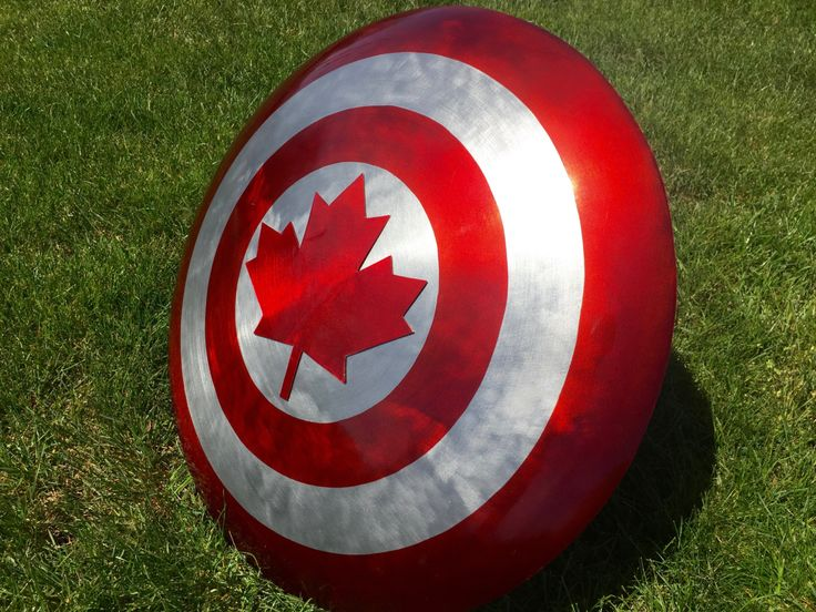 Captain Canada Metal Shield, Captain Canuck, Cosplay by TheWoodenForge on Etsy $300