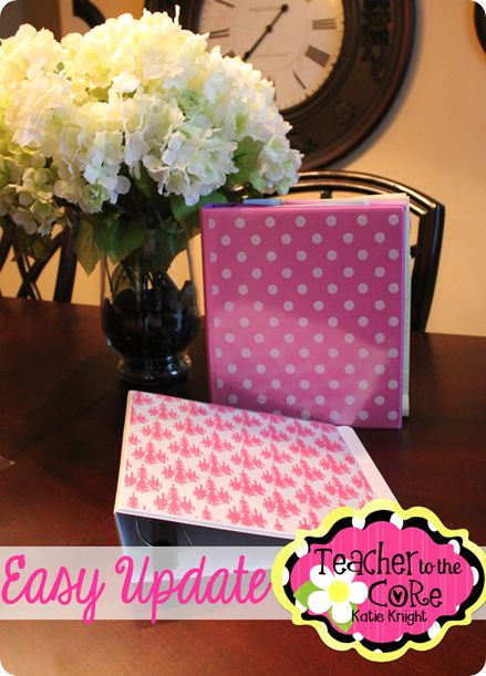 easy way to decorate a binder