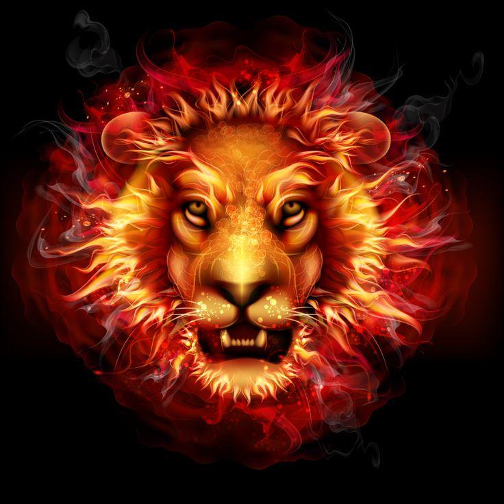 创意火焰狮子头像矢量素材矢量图免费下载-千图网www.58pic.com