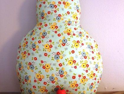 Mint Floral Pear Cushion