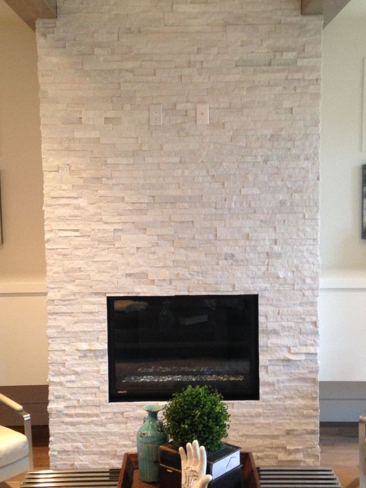 Quartz Ledgestone Fireplace Supplied And Installed
