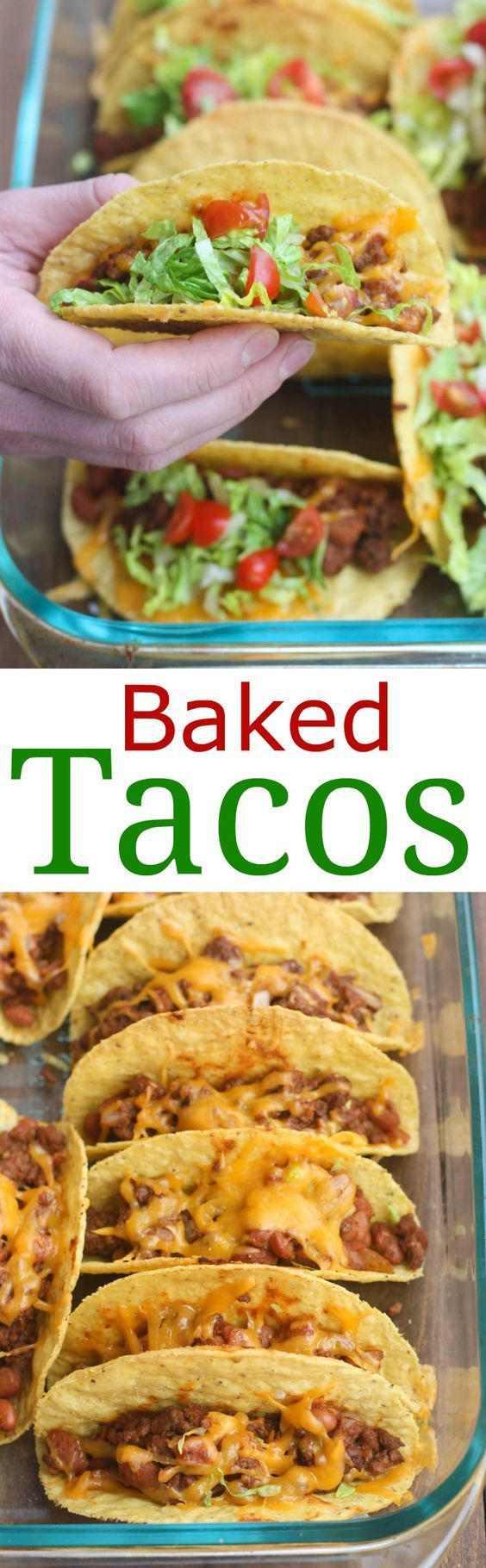 Oven Baked Tacos are soo easy and always a family favorite! Cheesy, crispy baked tacos with the best homemade taco filling (no packet seasoning!). | Tastes Better From Scratch: