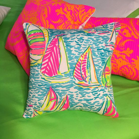 New Pillow Made with Lilly Pulitzer 2016 You Gotta Regatta