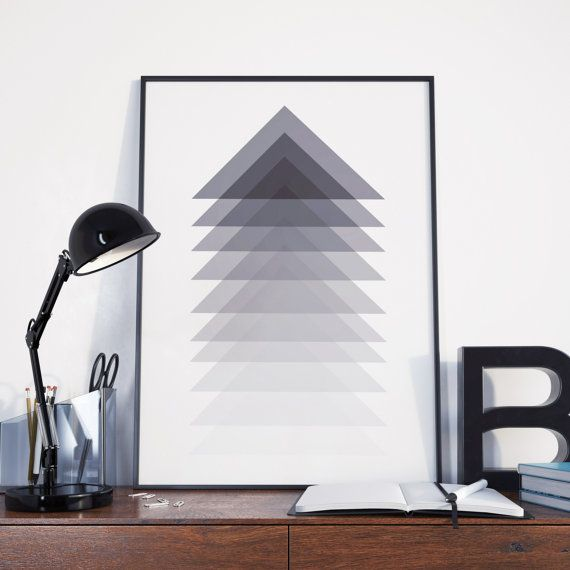 de diseo de triangulos en escala de grises composicin con composicin en