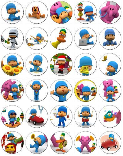 30 x Pocoyo Rice Paper Fairy Cup Cake Toppers in Crafts | eBay
