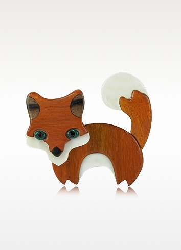 Les Nereides  Nobles Betes - Fox Brooch