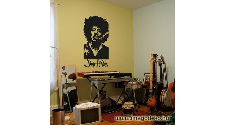 Jimmy Hendrix faldekor - Plasztikus dekor - Imágódeko - Otthondekor és üzletdekor #walldecor #decoration #jimmyhendrix