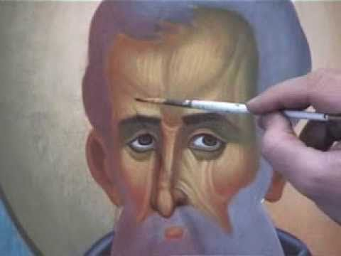 All steps of painting an icon. By Theodoros Papadopoulos. - YouTube