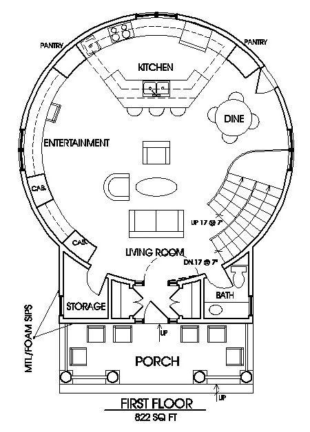 The Classic Plan. Grain Silo Main floor.