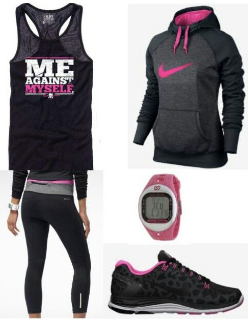 For my run :) | I love it but im more of a blue or yellow kinda gal. I guess I might be willing to wear some pink. this isn't too much..lol