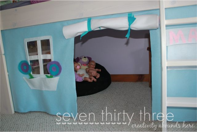 no sew loft bed felt tent tutorial loft beds felt and