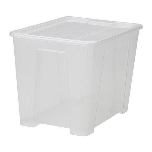 $6.99 - SAMLA Box with lid, clear clear 15 ¼x11x22