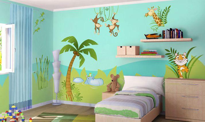 Stickers Murali Bambini Nella giungla Camerette, Idee
