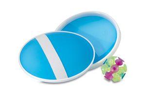 Juego playa  Set incluye 1 bola con ventosas y 2 pequeños juegos supercatch.  Material: Plástico   Precio unitario: Desde 0,75€/u  #playa #palas #verano