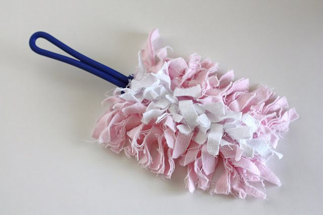 DIY cleaning product. Make your own Swiffer duster. You can throw it in the washer and reuse over and over.