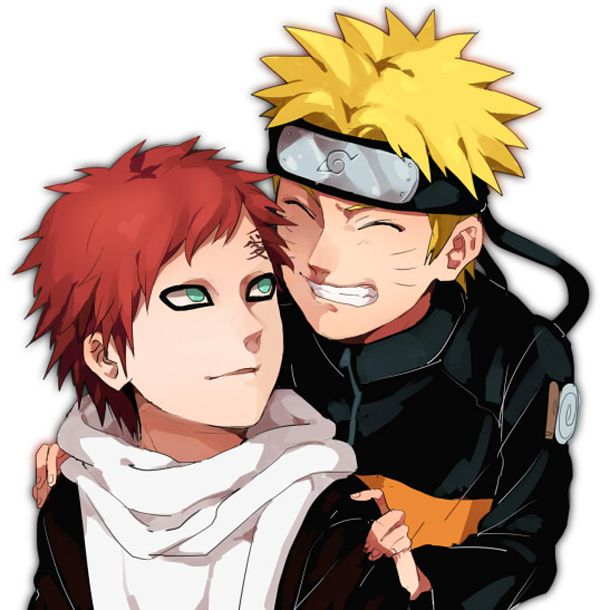 Gaara And Naruto - Best Friends