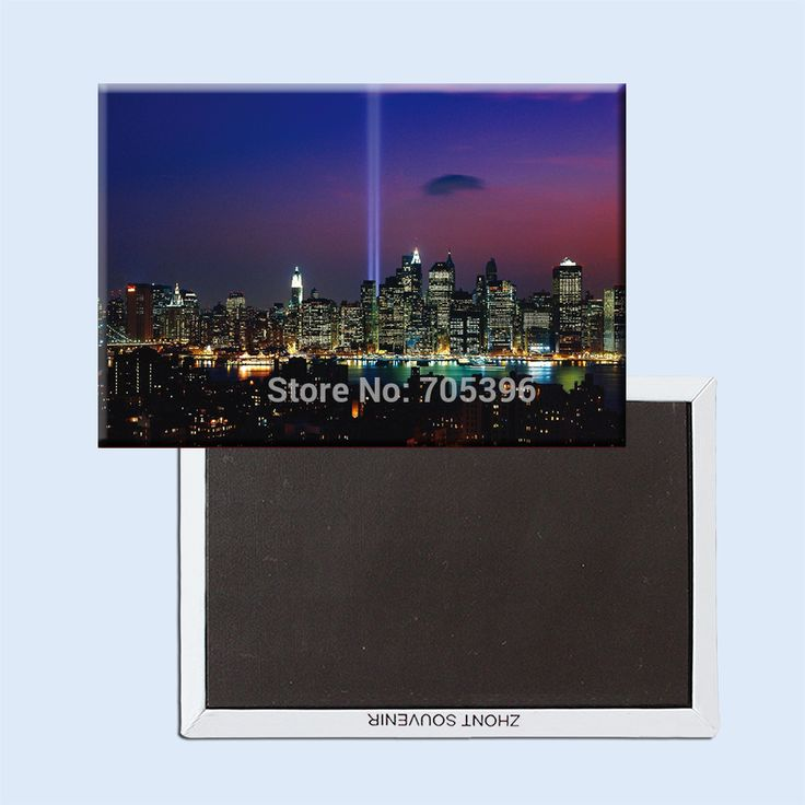 Ночные клубы свет НЬЮ-ЙОРК сити для 911 Мемориал, Жесткие Магниты На Холодильник 20954