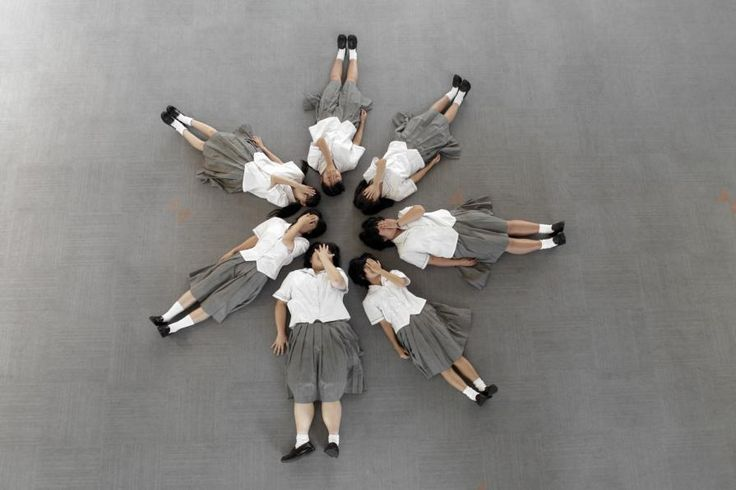 A telepathy exercise with some young girls - 'Casting the circle', sold out. http://www.celesteprize.com/artwork/ido:290172/