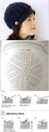 gorro 1. http://crochetpedia.blogspot.com.es/2013/05/whole-bunch-of-hats.html