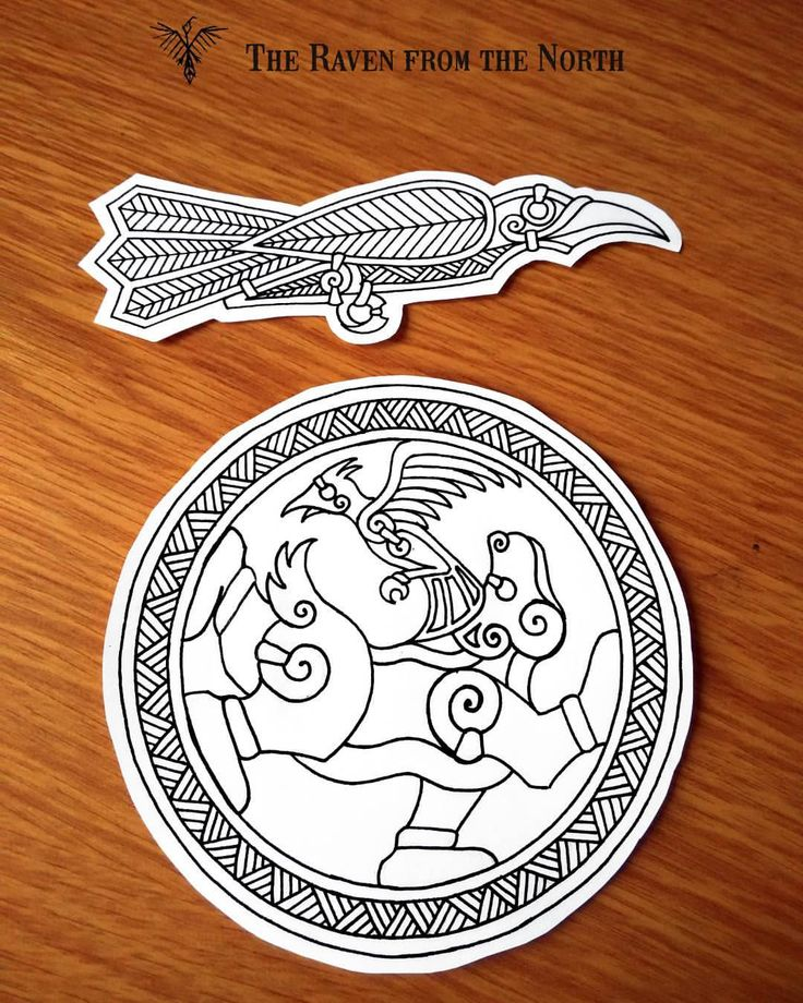 """""""Raven, lark and bear"""" - a couple of simple custom commission tattoo designs in nordic style. If you are intersted, then I'll gladly make something similar again. #norse #nordic #viking #pagan #celtic #history #fantasy #medieval #tattoo #design..."""