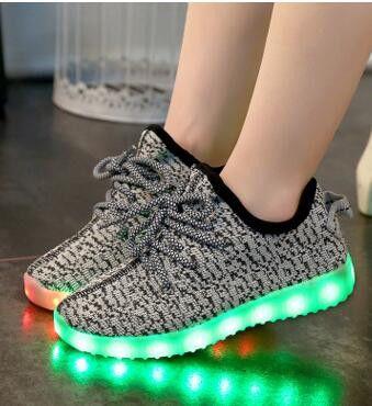 [Present:kleines Handtuch]High Top mit Velcro Rot EU 43, LED 7 Farbe Sport Schuhe USB weise High Sportschuhe JUNGLEST® Herren für Sneaker Turnschuhe Weiß 43 Damen Unisex-Erwachsene Lac