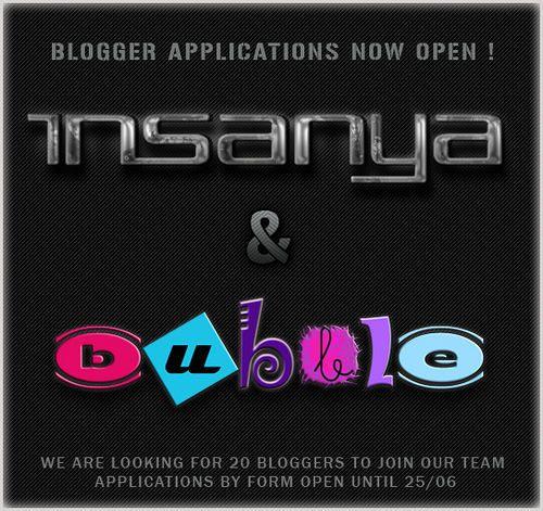 Insanya & [ bubble ] Blogger Applications Open   Flickr - Photo Sharing!