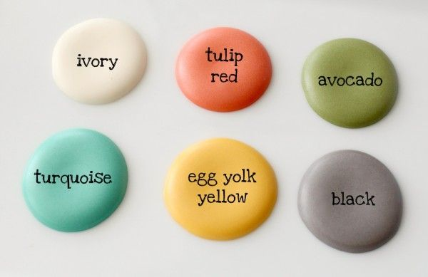 Great tip on creating vintage icing colors!