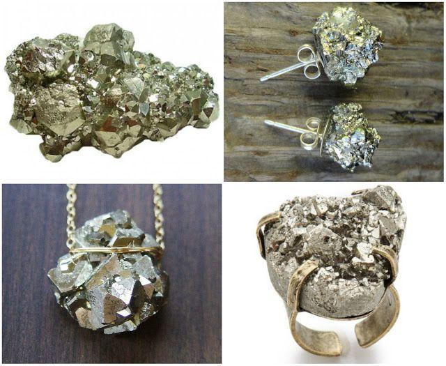 Beijinho Doce: Joias com pedras brutas e seus significados.