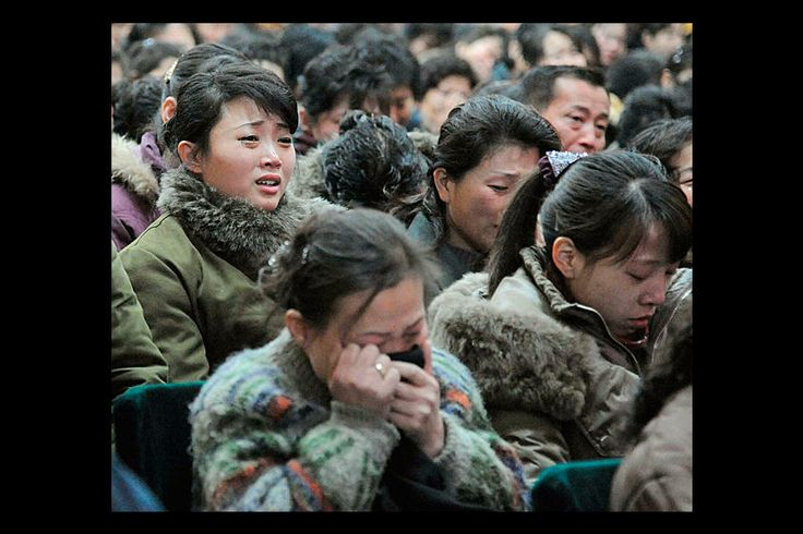 Pyongyang residents react as they mourn the death of North Korean leader Kim Jong-il in Pyongyang. Kim Jong-il died on a train trip, according to state television. The news sparked concern about who controlled the reclusive state and its nuclear program. (CSMonitor.com, Kyodo/Reuters)