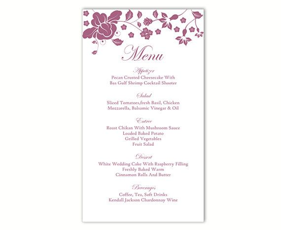 The 25+ best DIY menu cards template ideas on Pinterest - menu printable template