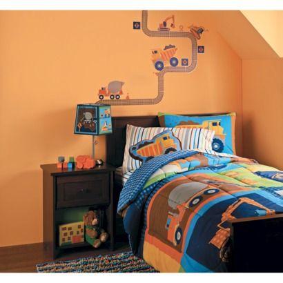 17 best ideas about truck bedroom on pinterest race car for Boys construction bedroom ideas