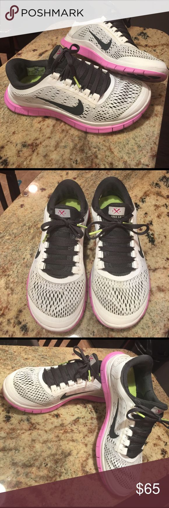Nike Free 3.0 Pink white/grayish Nike free 3.0. Size 7. Good shape! I don't have the original box. Nike Shoes Athletic Shoes