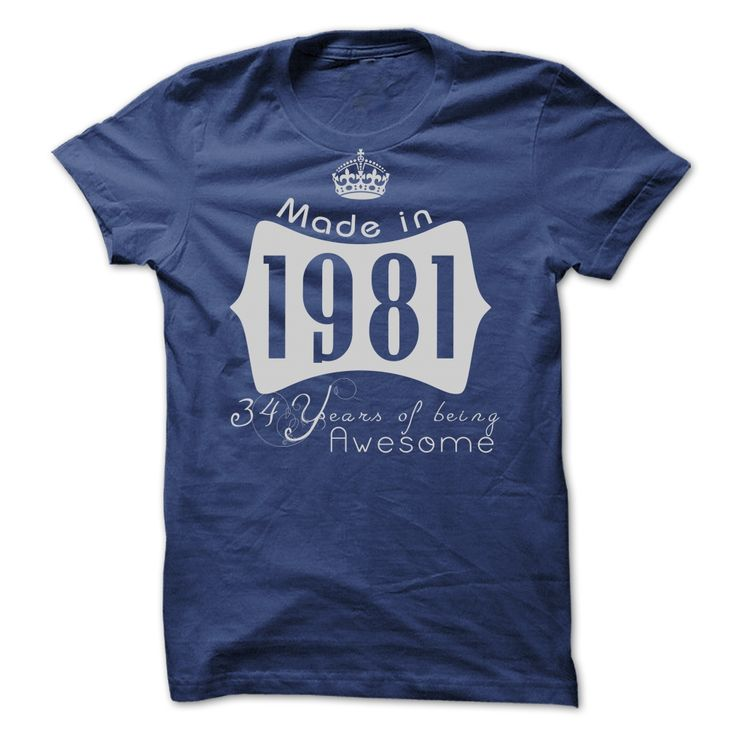 Cool T-shirts  Made In 1981 - 34 Years Of Being Awesome   Cheap Hoodie 2015 at (3Tshirts)  Design Description: 1981, are you tired of having to explain yourself? With this T-Shirt, you no longer have to. There are things that only 1981 can understand... -  - http://tshirttshirttshirts.com/whats-hot/best-tshirts-made-in-1981-34-years-of-being-awesome-cheap-hoodie-2015-at-3tshirts.html
