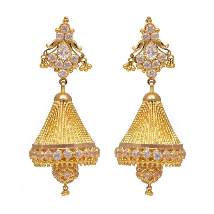Buy joyalukkas 22k Yellow Gold Jhumki Earrings Online at Low Prices in India | Amazon Jewellery Store - Amazon.in