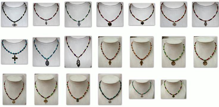 Collage de algunos de los collares que hago. http.//www.facebook.com/crearteag