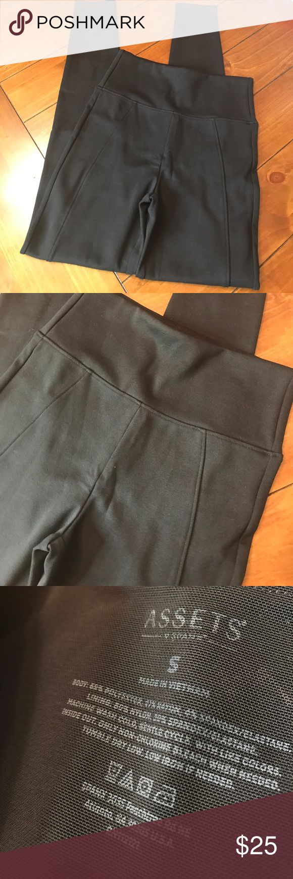 """NWOT  {Assets by Spanx} Thick Black Leggings 💕 These leggings are so perfect! The are thicker and will """"hold"""" you in due to the spanx. Inseam is approx 28.5"""". Waist is approx 12"""" across without stretching them. There is stretch inside. Assets By Spanx Pants Leggings"""