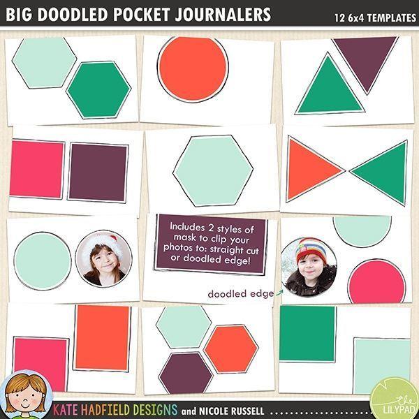Big Doodled Pocket Journalers Doodled Pocket Journalers Pack Of
