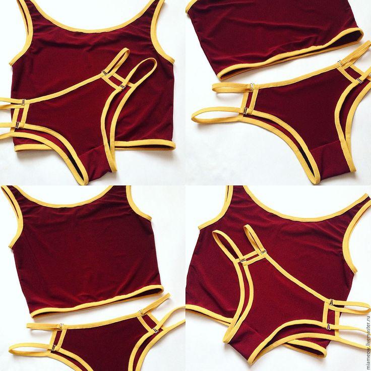 Купить Нижнее белье ручной работы - однотонный, комбинированный, белье ручной работы, белье