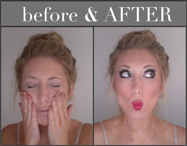 Christmas & Holiday Sparkle Makeup Before & After