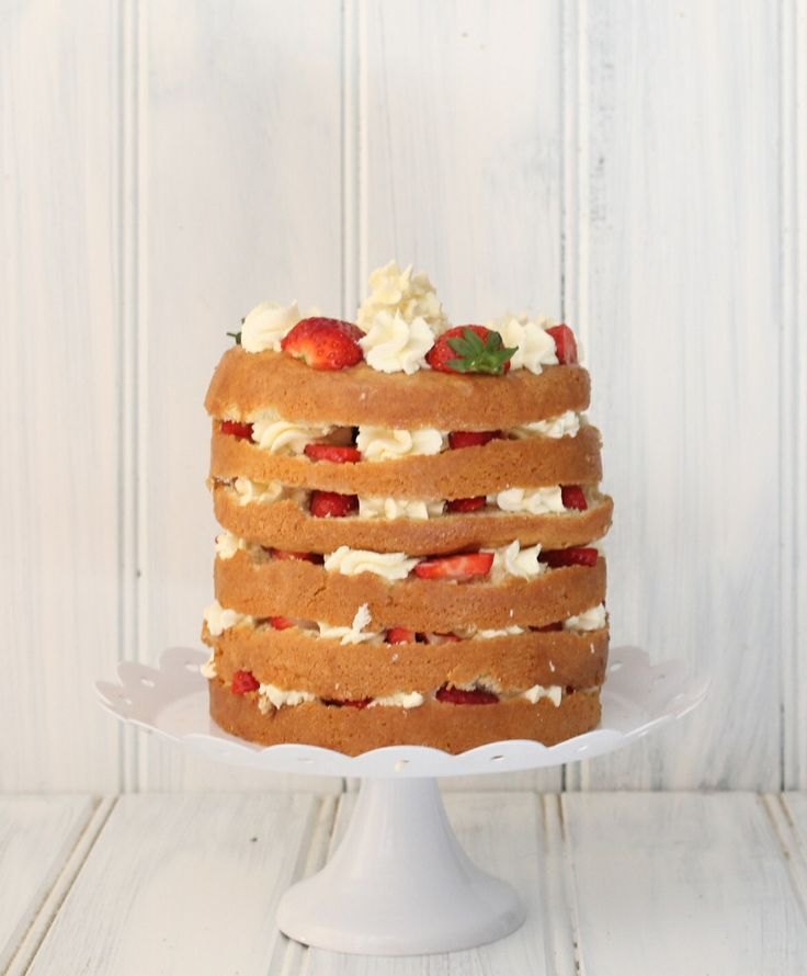 Strawberries and Cream Tres Leches Layer Cake | Blueberry Kitchen