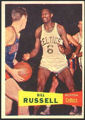 bill russell basketball cards    bill russell rookie card 1957 topps basketball…