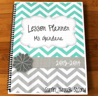 Surfin' Through Second: Monday Made It~ FREE lesson planner and grade book file for her facebook fans!