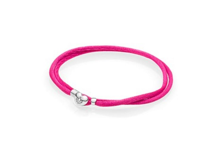 Pandora Moments fabric armband, Felroze